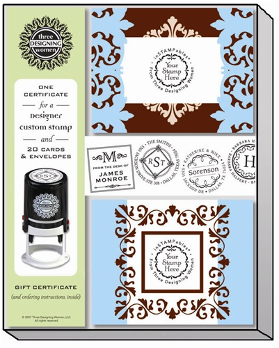 What to get the person who has everything? A Custom Stamp Certificate!